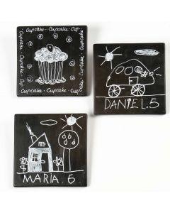 Kunstkacheln mit Zeichnungen