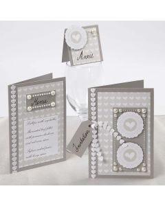 Hochzeitskarte mit Skagen-Papier