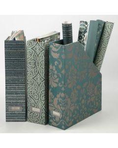 Eine Zeitschriftenbox mit handgeschöpftem Papier