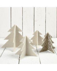 Weihnachtsbäume aus Filz