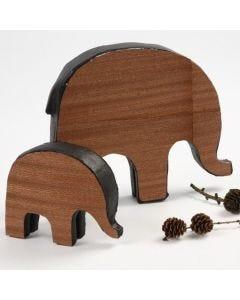 Elefanten mit Holzfurnier