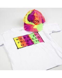 Neon-Textil Color Stoffmalfarbe auf T-Shirt und Baseball Cap