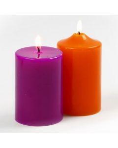 Große Kerzen aus Paraffinwachs