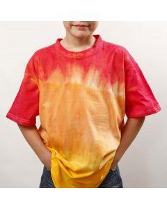 Tauchen u. Färben und Batik auf T-Shirts