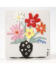Silk Clay auf dekorativem Papprahmen