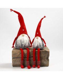 Filz-Kobolde mit langen Strickschlauch-Beinen