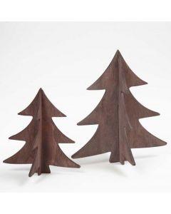 Bemalte 3D Weihnachtsbäume aus Holz