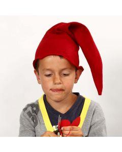 Nikolaus-Mütze aus rotem Filz
