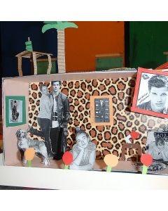 Traumzimmer-Kulisse in einem Schuhkarton