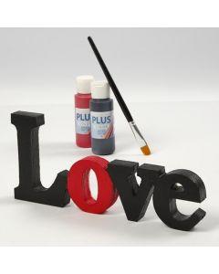 Bemaltes und lackiertes Dekorationswort – 'Love'
