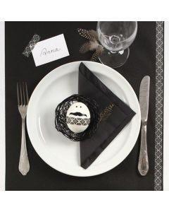 Oster-Tischdeko in Schwarz und Weiß