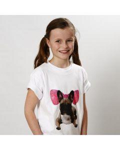 T-Shirt mit Deko aus Transferdruck und Grafik