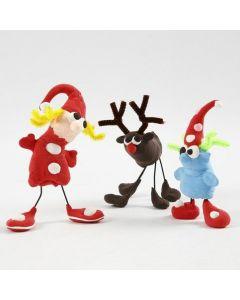 Weihnachtsfiguren aus Silk Clay, Steckdraht und Pfeifenreiniger