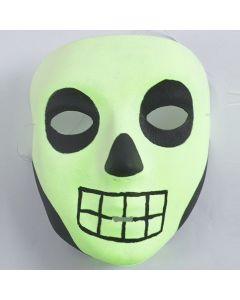 Eine leuchtende Halloween-Maske