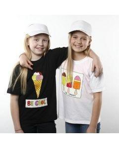 T-Shirts mit Eis-Designs, gemalt mir Stoffmalfarbe