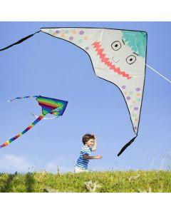 Nylon-Drachen, bemalt mit Textil-Markern