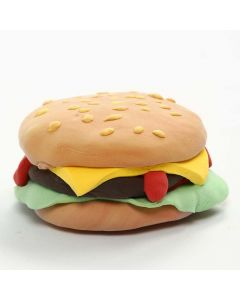 Magnet in Burger-Form aus Silk Clay