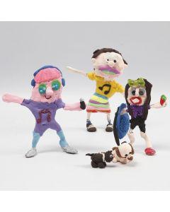 Phantasie-Figuren aus Bonsai-Draht, Alu-Folie und Silk Clay