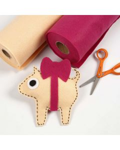 Weihnachts-Schweinchen mit roter Schleife