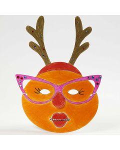 Eine bemalte und dekorierte Maske für Weihnachten