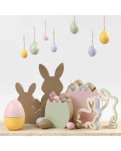 Oster-Figuren in Pastell-Tönen
