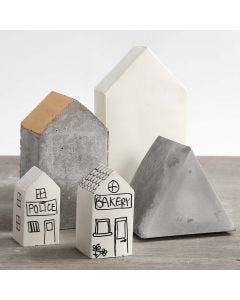 Häuser aus Beton - gegossen in Formen