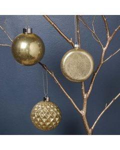 Glaskugeln mit Goldglitter-Füllung