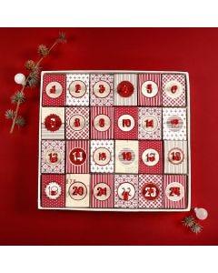 Adventskalender aus 24 kleinen Boxen mit Deckel