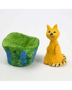 Styropor-Katze