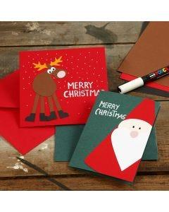 Grußkarten mit Weihnachtsmotiven aus Karton