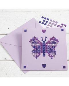 Grußkarte mit Mosaik-Verzierung aus kleinen Stickern