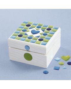 Mosaik-Box mit Bemalung
