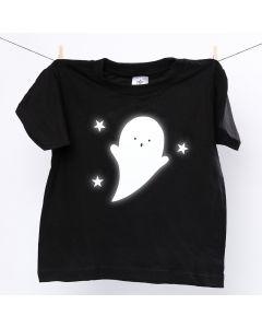 T-Shirt, verziert mit leuchtendem Gespenst