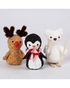 Tiere aus dem kalten Norden - geformt aus Foam Clay