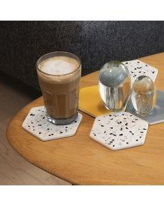 Untersetzer aus Terrakotta, verziert mit Terrazzo-Flakes