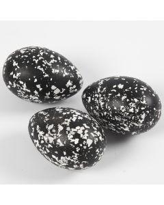 Eier, verziert mit Terrazzo-Flocken