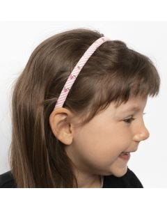 Haarreifen, verziert mit Patchwork-Stoff
