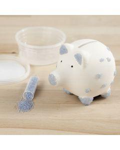Sparschwein, verziert mit Rocaille Seed Beads und Modelliergel