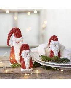 Weihnachtsmann aus Holz, ummantelt mit Gipsgaze