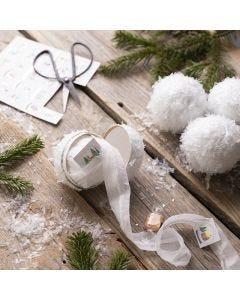 Selbstgemachte Schneebälle mit kleinen Überraschungen