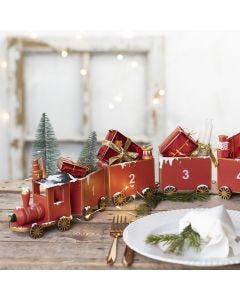 Weihnachtszug als Adventkalender