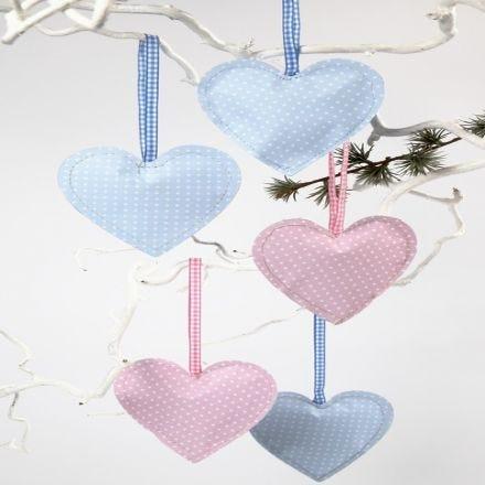 Wattierte Herzen