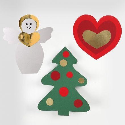Schablonen für weihnachtliche Motive