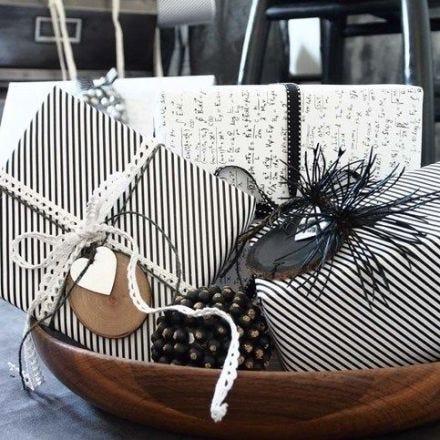 Geschenkverpackung mit Vivi Gade Design-Papier