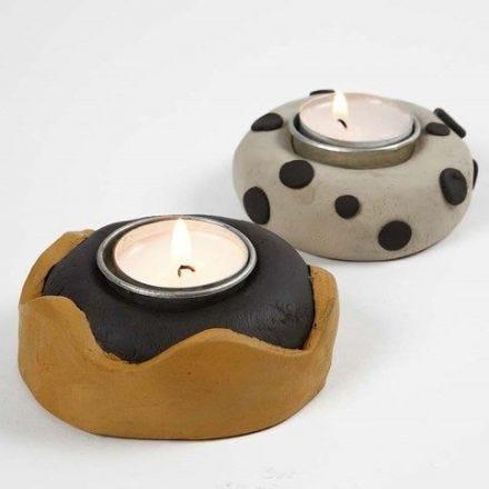 Teelichthalter aus Ton (selbsthärtend)