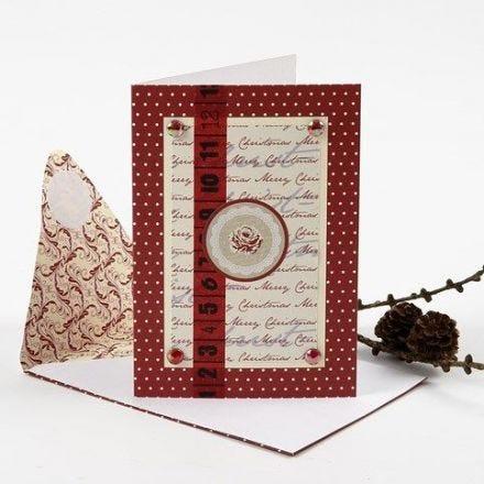 Weihnachtskarte mit Design-Verzierungen von Vivi Gade