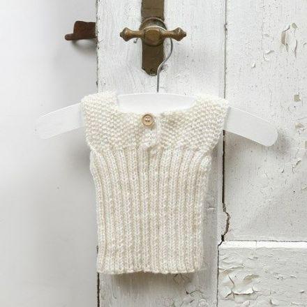Babykleidung stricken - Oberteil aus weicher Baby-Merinowolle