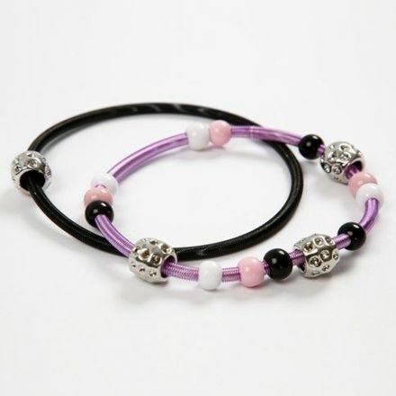 Gewickelte Metall Armbänder mit Perlen