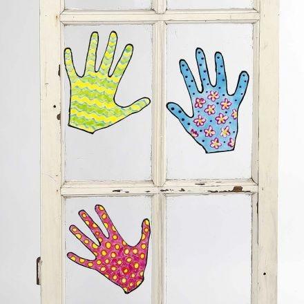Gemalte Fenster-Deko zum Ablösen