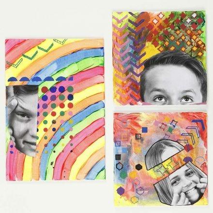 Individuelle Bilder - gemalt und gestaltet mit Schablonen-Mustern